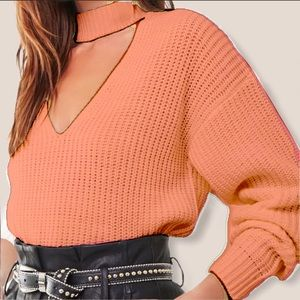forever 21 ribbed v-cutout sweater